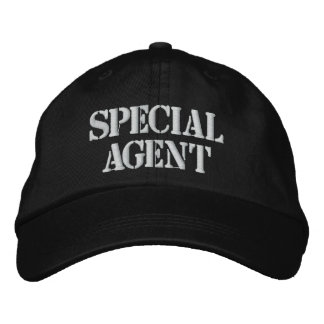 """SPECIAL AGENT"" EMBROIDERED CAP EMBROIDERED BASEBALL CAP"