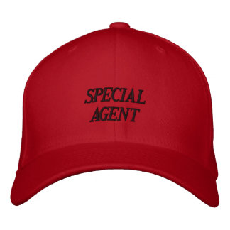 """""""SPECIAL AGENT"""" EMBROIDERED CAP EMBROIDERED BASEBALL CAPS"""