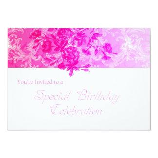 Special Birthday (pink lined) Invitation