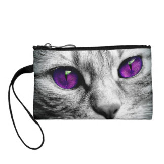 Special Cat with Purple Eyes Coin Wallets