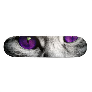 Special Cat with Purple Eyes Custom Skate Board