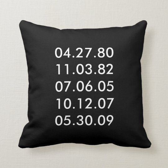 Special Dates Pillow
