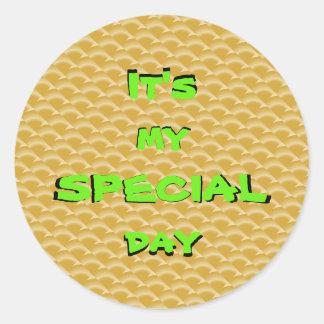SPECIAL DAY Round Sticker, Glossy 16091211 Round Sticker
