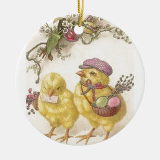 Special Delivery Easter Chicks Ceramic Ornament