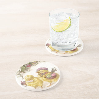 Special Delivery Easter Chicks Coaster