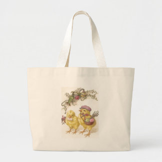 Special Delivery Easter Chicks Large Tote Bag