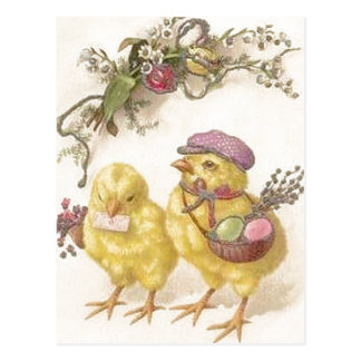 Special Delivery Easter Chicks Postcard