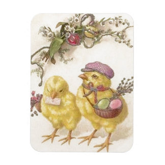 Special Delivery Easter Chicks Rectangular Photo Magnet