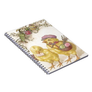 Special Delivery Easter Chicks Spiral Notebook