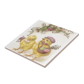 Special Delivery Easter Chicks Tile