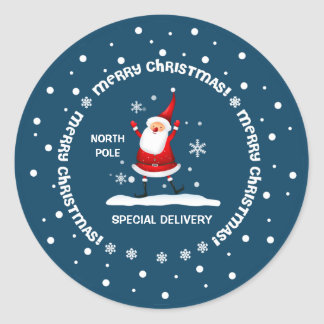 Special Delivery from North Pole Christmas Sticker