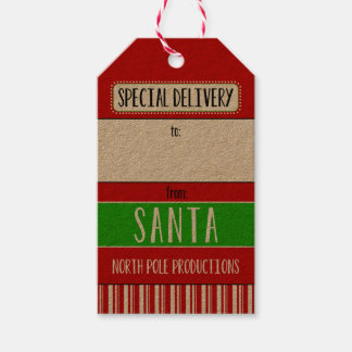 Special Delivery From Santa Pack Of Gift Tags