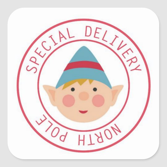 Special Delivery North Pole Elf Stickers