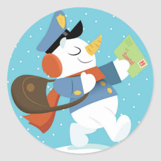 Special Delivery Snowman Sticker