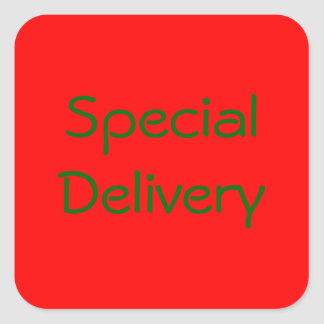 """Special Delivery"" Sticker"