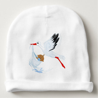 """Special Delivery"" Stork Baby Cap #1 Baby Beanie"
