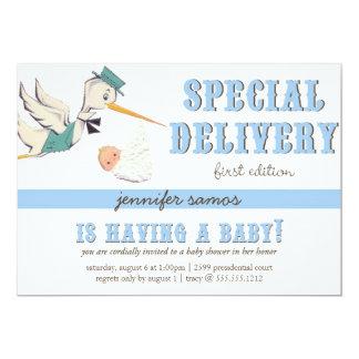 Special Delivery - Vintage Stork Card