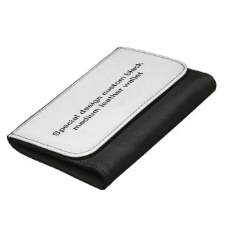 Special design custom black leather wallet. leather wallets