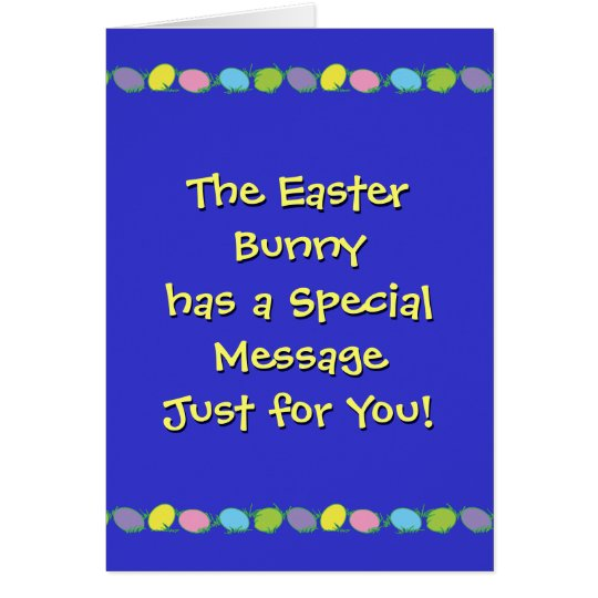 Special Easter Message Card