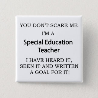 Special Ed. Teacher 2 Inch Square Button