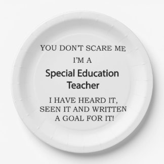 Special Ed. Teacher Paper Plate