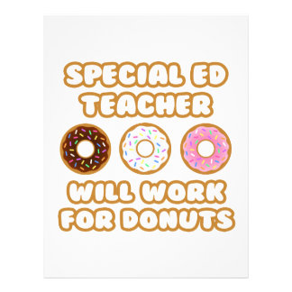 Special Ed Teacher Will Work For Donuts Personalized Letterhead