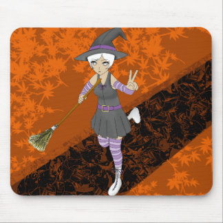 Special Edition Anime Halloween Witch Mouse Pad
