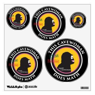 Special Edition STEM Smart Gear Math Cavewoman Wall Decal