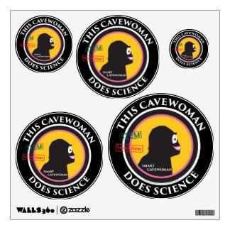 Special Edition STEM Smart Gear Science Cavewoman Wall Sticker