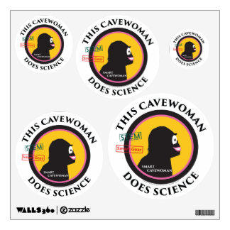 Special Edition STEM Smart Gear Science Cavewoman Wall Sticker