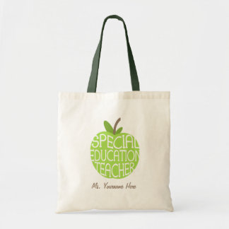 Special Education Teacher Green Apple Bag
