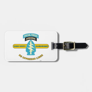 """SPECIAL FORCES AIRBORNE """"DE OPPRESSO LIBER"""" LUGGAGE TAG"""