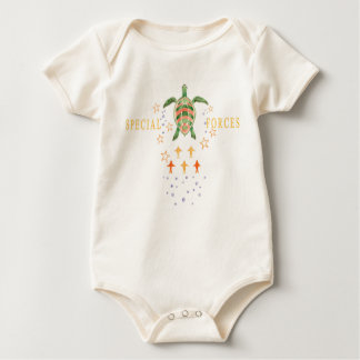 """""""Special Forces"""" Baby Organic Bodysuit"""