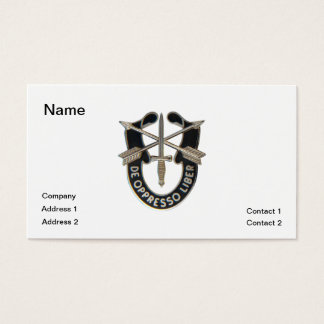 Special Forces Business Card