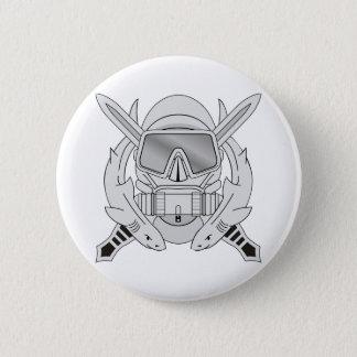 Special Forces Diver Emblem 2 Inch Round Button