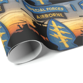 Special Forces Green Berets sf sfg sof patch Wrapping Paper