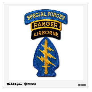 Special Forces Green Berets SFG SF SOF vets patch Wall Decal