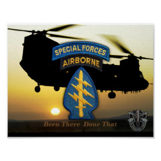special forces green berets SFG SOF SF Poster