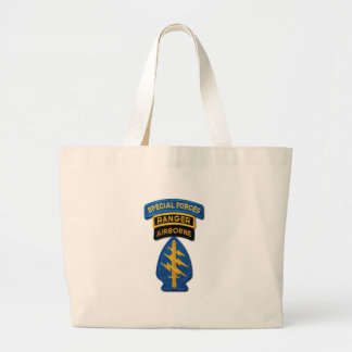 Special Forces Group Green Berets SF SOF SFG SOC Large Tote Bag