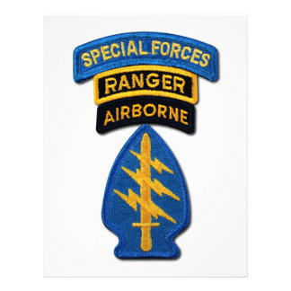 Special Forces Group Green Berets SF SOF SFG SOC Letterhead