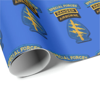 Special Forces Group Green Berets SF SOF SFG SOC Wrapping Paper