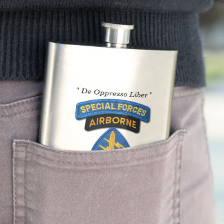 Special Forces Group Green Berets SFG SF LRRP Vets Hip Flask
