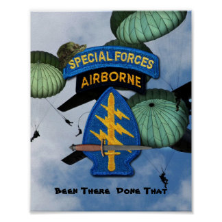 Special Forces Group Green Berets SFG SF Vets Poster