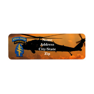 Special Forces Group Green Berets SFG SF Vets Return Address Label