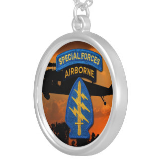Special Forces Groups Green Berets SF SFG Silver Plated Necklace