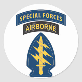 Special Forces Patch Round Sticker