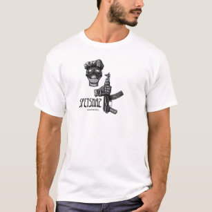 5f82a76cc Special forces skull and AK 47 gun ink drawing T-Shirt