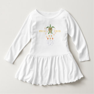 """""""Special Forces"""" Toddler Ruffle Dress"""