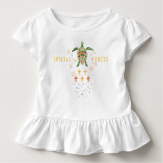 """""""Special Forces"""" Toddler Ruffle Tee"""