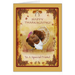 Special Friend Happy Thanksgiving Turkey Card
